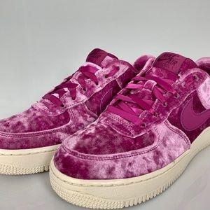 Nike Air Force 1 LV8 Bordeaux Plum Velvet Sneaker
